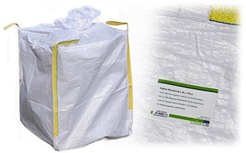 BigBag Standard 90 x 90 x 110cm belastbar bis 1000kg für Lagerung Transport von Baustoffen Materialien