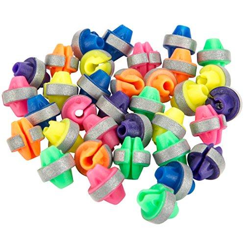 Ultrasport reflektierende bunte Speichenperlen in den Farben Orange, Gelb, Grün, Blau, Lila, Pink  (36er-Pack) – Spaß und Sicherheit für Kinderräder, Einheitsgröße