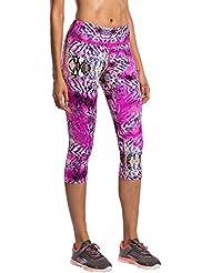 Las mujeres recortada pantalones para ocio Deportes al aire libre profesional medias en estampado de leopardo alta calidad pantalones, color nzzck-009, tamaño XL
