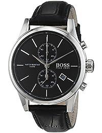 Hugo Boss Herren-Armbanduhr Chronograph Quarz Leder 1513279