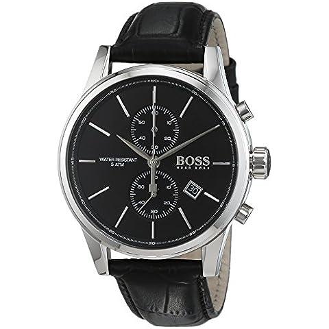Hugo Boss 1513279 - Reloj de pulsera hombre, Cuero, color Negro