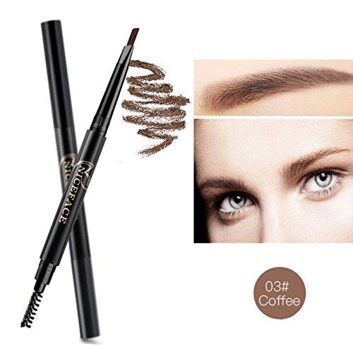 Moresave Crayon à sourcils automatique avec maquillage de brosse à sourcils cosmétiques 5 couleur de style