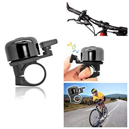 "Grenhaven Kleine Fahrradklingel Fahrradglocke Kinderfahrradklingel Fahrrad Klingel Glocke Robustes, leichtes Aluminium Gehäuse Mini Glocke ""Ding"" Klingelton - 5"