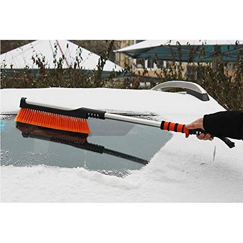 RUIX Eiskratzer und Schneebürste, Winterauto-Eisschaufel-Schneebürste, Die Schneeschaufel-Schneebürste/Autoschneeräumungszubehör Auftaut,Orange