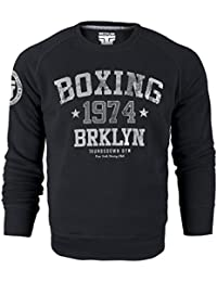 Boxing 1974 Brklyn Crewneck Sweatshirt. Thumbsdown Gym. New York Brooklyn Club. Thumbsdown Last Fight. Martial Arts Sweat-shirt. Fightwear. Training. Casual. Gym. MMA Hoodie