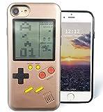 F-FISH Hülle für iPhone X / 6 / 6s / 7/8 Plus ABS Hülle Case Schutzhülle für das Klassische Spiel [Gameboy] [Tetris] (iPhone 7/8, Roségold)