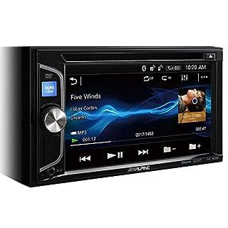 Alpine IVE-W560BT Multimedia-System, 200W, WVGA-Bildschirm, eingebauter CD/DVD-Player, mit Bluetooth, 2Vorverstärkerausgänge, Schwarz