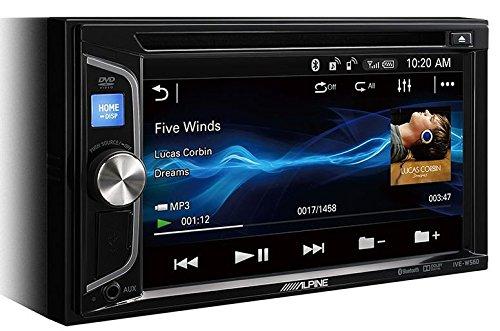 Alpine IVE-W560BT Multimedia-System, 200W, WVGA-Bildschirm, eingebauter CD/DVD-Player, mit Bluetooth, 2Vorverstärkerausgänge, Schwarz (Dvd Alpine Bluetooth)