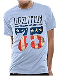 LED ZEPPELIN NORTH AMERICA TOUR 75 Sky Tshirt S M L XL XXL