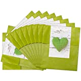 25 kleine grüne Papiertüten Geschenktüten Geschenk-Verpackung (9,5 x 14 cm) inkl. Aufkleber