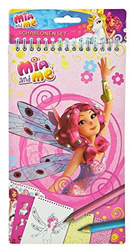 Undercover MMKO7853 - Kinderhandtasche Mia and Me, ca. 32 x 29 x 8 cm Schablonen Set, 34 teilig
