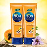 Joy Hello Sun Sunblock & Anti-Tan Lotion With Papaya Saffron Natural Ingredients, Sun