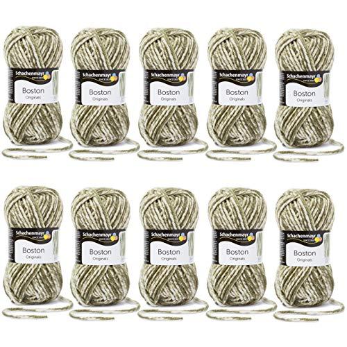 MyOma Restposten Wolle zum Stricken *Boston Oliv Denim (Fb 173) 50% REDUZIERT* 10x Boston Wolle günstig + GRATIS Label - Schachenmayr Restposten - Schachenmayr reduziert - Wolle günstig kaufen -
