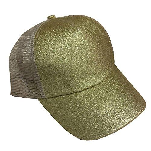 Kopfbedeckungen Für Damen Herren Damen Doppel Farbe Pailletten Baseball Kappe Einstellbar Strapback Hüte Z318 100% Original Baseball-kappen