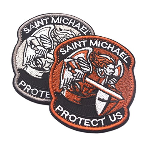 Hemore Saint Micheal Badger Military Tactical Army Morale Combat Multicam Patch für Outdoor (Combat Morale Patches)