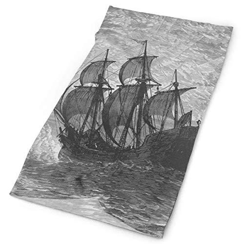 Sherpa Winter Liner (Nautical Pirate Sailboat Ship Art Stirnband Unisex Headwrap Magic Head Scarf Bandana Headwear Neck Scarf Microfiber Pirate Hat Liner Vintage Headdress Wristband Face Mask Neck Gaiter)