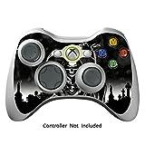 Xbox 360 Controller Designfolie Sticker - Vinyl Aufkleber Schutzfolie Skin für Xbox 360 Controller - Reaper Black