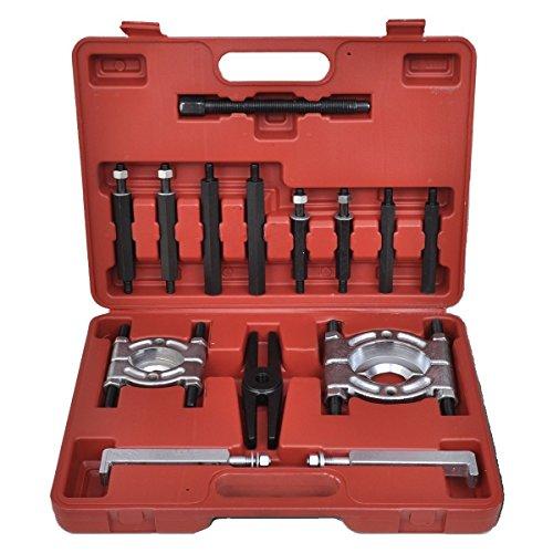 LARS360 Universal 14-TLG Lagerabzieher Bearing Separator Set Polradabzieher Trennmesser Werkzeug Satz Lager Abzieher Kit