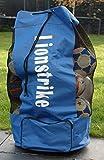 Sac à ballons de foot Lionstrike - pour transporter vos ballons de foot rugby tennis, il permet de transporter jusqu'à 15 ballons Lionstrike gonflés