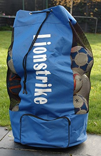 il permet de transporter jusqu/'/à 15 ballons Lionstrike gonfl/és pour transporter vos ballons de foot rugby tennis Sac /à ballons de foot Lionstrike