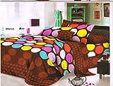 Desirica Polka Dots 3D Double Bedsheet w...