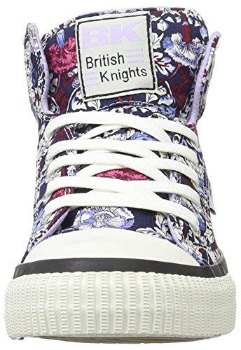 British Knights Dee, Baskets hautes femme Bleu marine/lilas