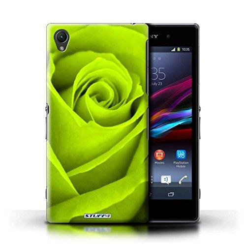 Kobalt® Imprimé Etui / Coque pour Sony Xperia Z1 / Vert conception / Série Rose Vert