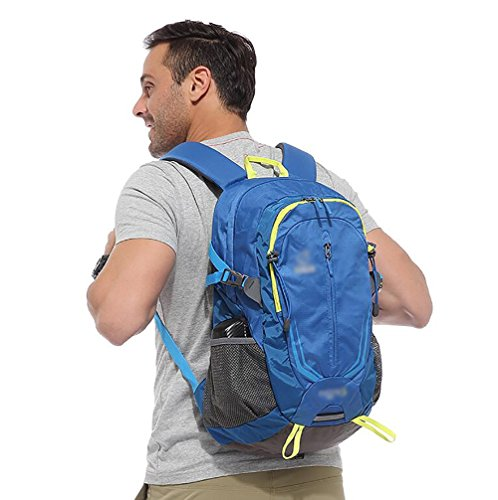 HWLXBB Outdoor Bergsteigen Paket Männer und Frauen 32L Wasserdichte Mehrzweck-Bergsteigen Tasche Wandern Camping Bergsteigen Rucksack 2*