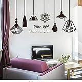 Elektrische Glühlampen Wandaufkleber Vinyl DIY Bilderrahmen Wandkunst für Wohnzimmer Schlafzimmer Dekoration