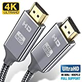 4K HDMI Cable 0.9M HDMI Lead/cord-Snowkids Ultra High Speed 18Gbps HDMI 2.0 Cable