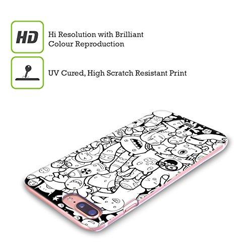 Head Case Designs Verdure Esplosione Di Doodle Cover Retro Rigida per Apple iPhone X Mostri E Alieni