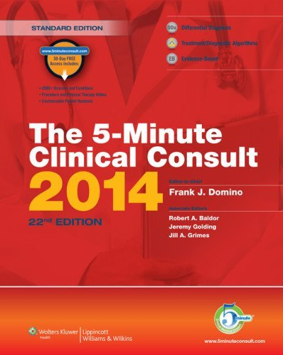 The 5-Minute Clinical Consult Premium Print + Online 2014 (The 5-Minute Consult Series) by Frank J. Domino MD (2013-05-24)