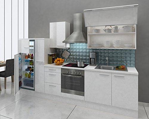 respekta Premium Cucina da Incasso 310 cm Bianco Bianco Frigorifero ...