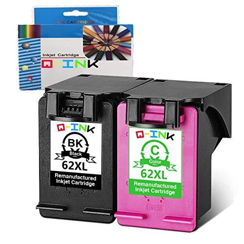 QINK 2 Pack 1BK + 1C HP 62XL Cartucho tinta color