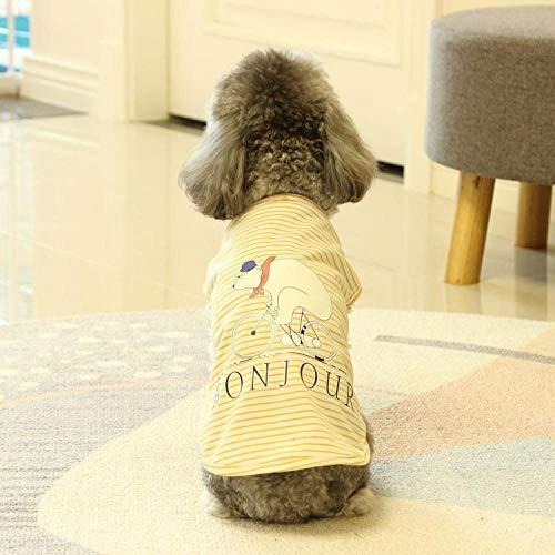 Menran Hundepullover Latzhose Hundebekleidung Frühling und Sommer niedlichen kleinen weißen Bären Baumwolle Hund Weste dünne Katze Kostüm Teddy Hund Haustier Kleidung Atmungsaktiv mit Klettverschluss (Kleiner Hunde Bär Kostüm)