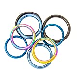 Seamless Segment Rings - 4 Pairs Anodized Titanium - Perfect for Eyebrow, Lip, Nose, Tragus Piercings by BodyJewelryOnline
