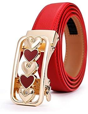 Cinturones De Moda Casual/Hebilla De Cinturón Automático Versátil Simple-rojo 105cm(41inch)