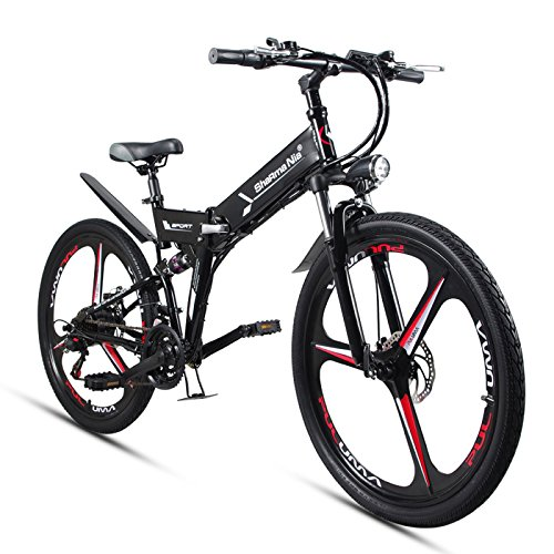 51Sv9Bd5pmL. SS500  - GTYW Electric Folding Bicycle Mountain Bicycle Moped 48V Lithium One Wheel Bicycle 26