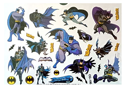 Cg195 tattoo temporanei batman personaggi cartoni animati per bamabini