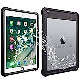 TECHGEAR Coque Étanche pour iPad 9.7 Pouces 6ème Gén 2018 / 5ème Gén 2017 [Poseidon Case] Coque Étanche Ultra-Résistante avec Protection d'Écran Intégré + Support et Sangle de Cou pour iPad 9.7