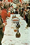 "Alu-Dibond-Bild 80 x 120 cm: ""A Banquet to Genet, illustration from Washington and the French Craze of 93 by John Bach McMaster, pub. in Harpers Magazine, 1897 (colour litho)"", Bild auf Alu-Dibond"