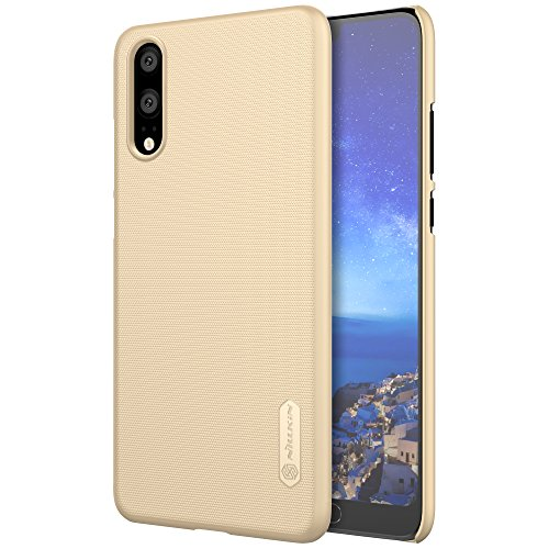 Für Huawei P20Fall, Nillkin [mit Displayschutzfolie] Frosted Shield Anti Fingerabdrücke Hard PC Case Back Cover für Huawei P20-Retail Paket, Gold Nillkin Fall
