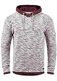 !Solid Flock Herren Kapuzenpullover Hoodie Pullover Mit Kapuze Aus 100% Baumwolle, Größe:M, Farbe:Wine Red (0985)