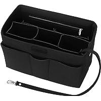 Felt Bag Organiser, Betoores Multi-Pocket Handbag Organizer Insert Handbag Purse Organiser Bag in Bag Handbag Liner Tote Organiser Bag Pouch,Black - M