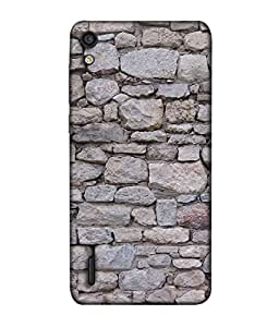 Huawei Ascend P7 Back Cover Stone Wall Pattern Design From FUSON