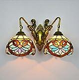 Tiffany-Art-Wandlampe, Euro-Art Buntglas-Kunst-Wand-Lampe, Retro- barocke Meerjungfrau-Entwurfs-Wandleuchten passend fü