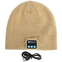 BLACK ELL Auriculares inalámbricos Bluetooth Smart Cap para Auriculares, Unisex Soft Warm Beanie Hat, 9