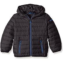 CMP – F.lli Campagnolo,   vnqvyap plumífero con capucha, modelo 2016, otoño, niño, color Negro - nero/china blue, tamaño 10 años (140 cm)