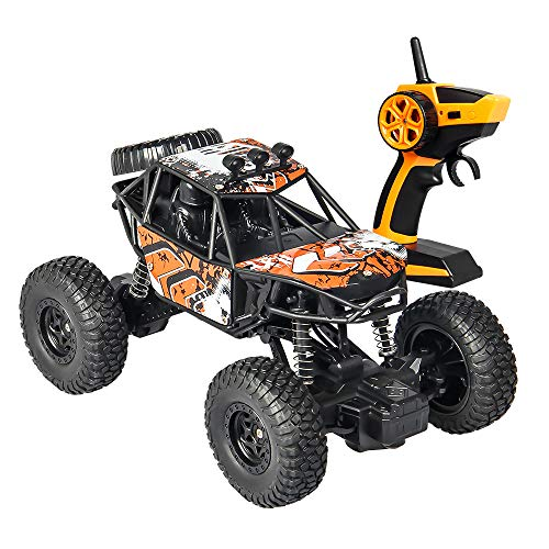 Fcostume 2,4G 1:20 RC High-Speed-Full-Scale-Doppel-Pickup Truck Auto Remote Buggy (Orange)