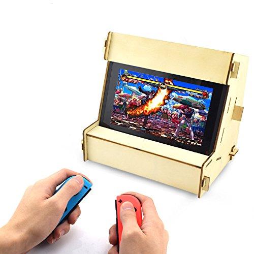 DIY Retro Arcade Cabinet Stand für Nintendo Schalter für NS Konsole Controller Hartholz Halterung (Arcade-cabinet Controller)